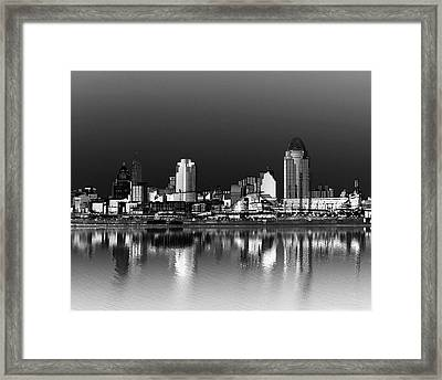 Cincinnati Skyline Dreams Framed Print by Tri State Art