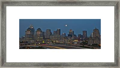Cincinnati Skyline From Mt. Adams Framed Print