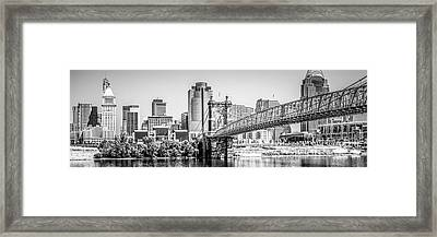 Cincinnati Skyline Panorama Photography Framed Print by Paul Velgos
