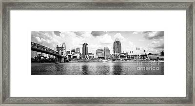 Cincinnati Skyline Panoramic Picture Framed Print by Paul Velgos