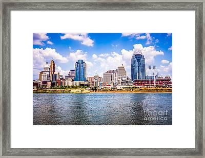 Cincinnati Skyline Photo Framed Print by Paul Velgos