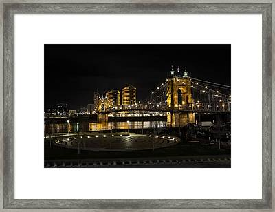 Cincinnati To Covington Framed Print