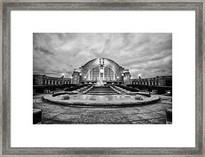 Framed Print featuring the photograph Cincinnati Union Terminal by Cathy Donohoue