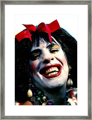 Framed Print featuring the photograph Cindafella Mardi Gras In New Orleans by Michael Hoard