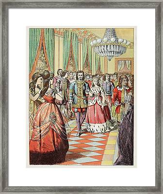 Cinderella At The Ball Framed Print