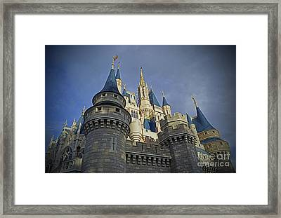 Cinderella Castle - Walt Disney World Framed Print by AK Photography
