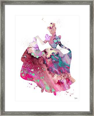 Cinderella Framed Print by Watercolor Girl