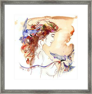 Framed Print featuring the painting Cinderella Story by Anna Ewa Miarczynska