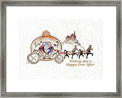Cinderella Wedding Message Framed Print by MEA Fine Art