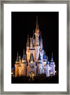 Cinderella's Castle In Magic Kingdom Framed Print