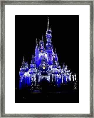 Framed Print featuring the photograph Cinderella's Castle by Laurie Perry