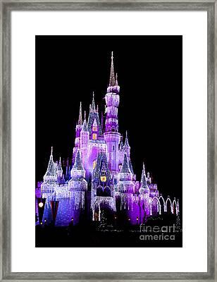 Cinderella's Castle Framed Print by Lisa L Silva