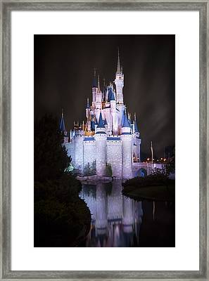 Cinderella's Castle Reflection Framed Print by Adam Romanowicz