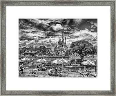 Framed Print featuring the photograph Cinderella's Palace by Howard Salmon
