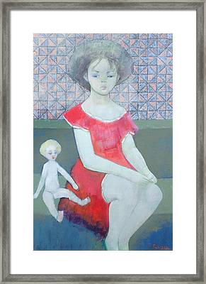 Cindy, 1996 Oil On Canvas Framed Print by Endre Roder
