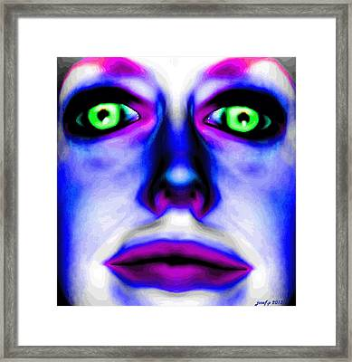 Cindy Likes Stroboscopic Lighting Techniques To Activate Her Pineal Gland  One Framed Print by Sir Josef - Social Critic -  Maha Art