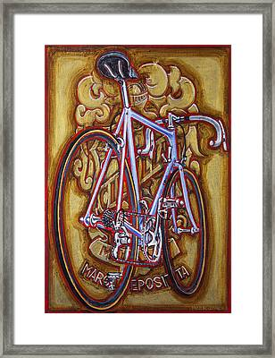 Cinelli Laser Bicycle Framed Print by Mark Howard Jones