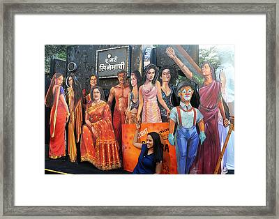 Cinema Goer Framed Print by Money Sharma