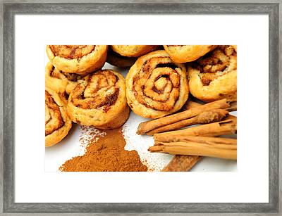 Cinnamon And Rolls Framed Print by Don Bendickson
