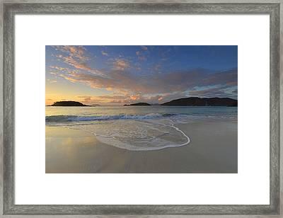 Cinnamon Bay At Sunset Framed Print by Stephen  Vecchiotti