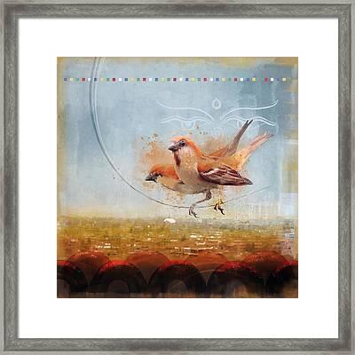 Cinnamon Sparrows Framed Print by Alex Tomlinson
