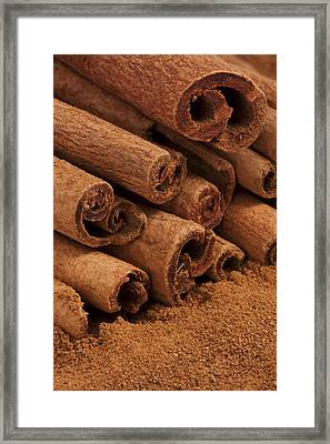 Cinnamon Sticks 2 Framed Print by John Brueske