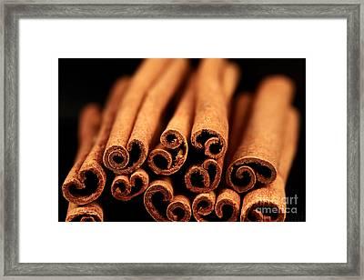 Cinnamon Sticks Framed Print by John Rizzuto