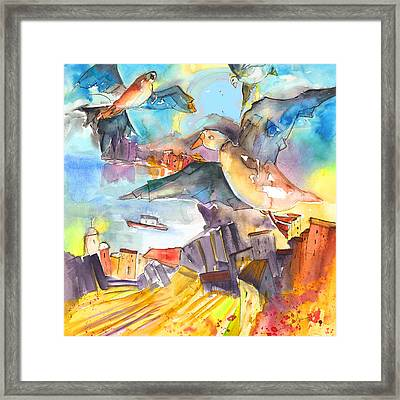 Cinque Terre 05 Framed Print by Miki De Goodaboom