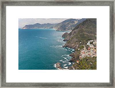 Cinque Terre Coast View Framed Print by Mike Reid