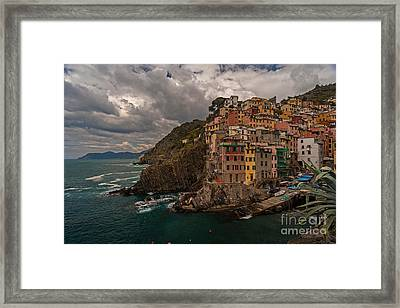 Cinque Terre Riomaggiore Framed Print by Mike Reid