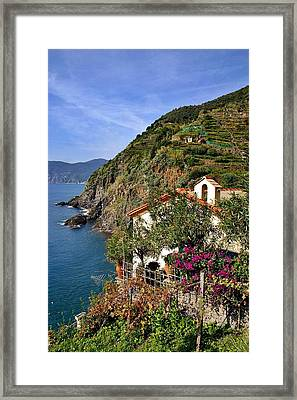 Cinque Terre Seaside Framed Print by Henry Kowalski
