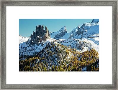 Cinque Torri And Torre Grande Framed Print