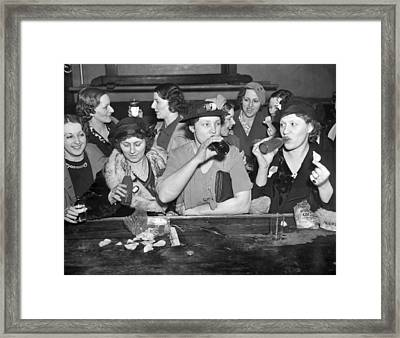 C.i.o. Victory Party Framed Print by Underwood Archives