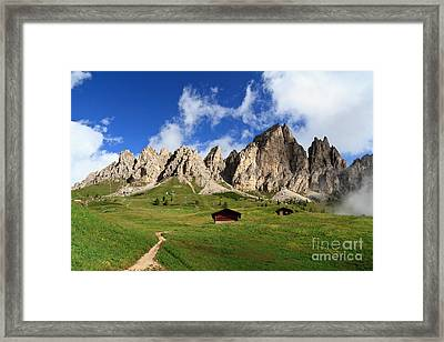 Framed Print featuring the photograph Cir Group - Gardena Pass by Antonio Scarpi