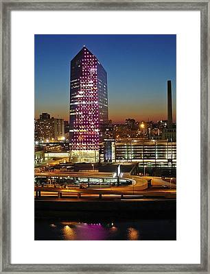 Cira Center At Sundown Framed Print by Lisa Phillips