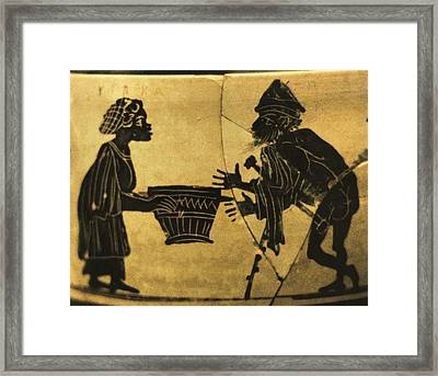 Circe Offers Her Magic Potion Framed Print by Everett