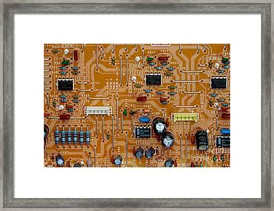 Circiruit Board Macro Framed Print by Amy Cicconi