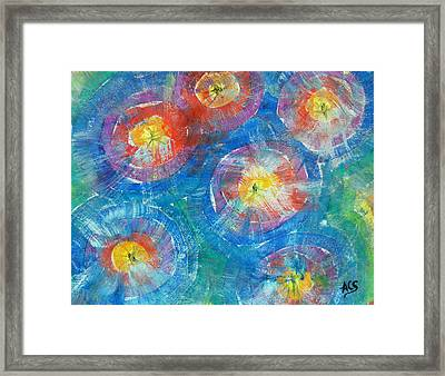 Circle Burst Framed Print