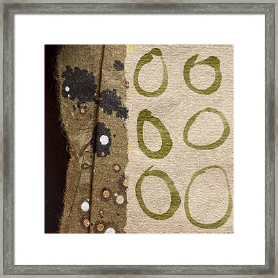 Circle Collage Framed Print by Carol Leigh