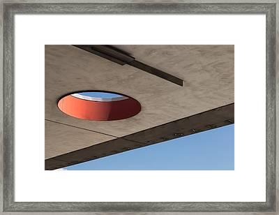Circle Down  Framed Print