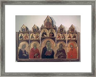 Circle Duccio Di Buoninsegna, Polyptych Framed Print