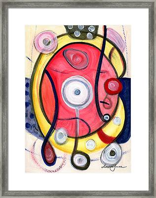 Framed Print featuring the painting Circle For Lovers by Stephen Lucas