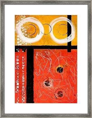 Circle Gold Abstract Framed Print