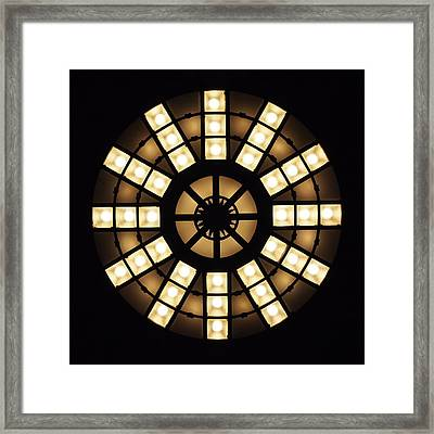 Circle In A Square Framed Print by Rona Black