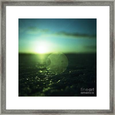 Circle In Square - Medium Format Analog Hasselblad Film Photo Framed Print by Edward Olive