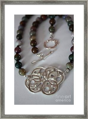 Circle Links Necklace Framed Print by Carrie Godwin
