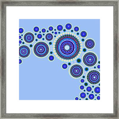 Circle Motif 117 Framed Print by John F Metcalf