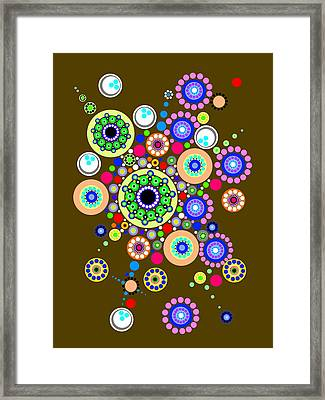 Circle Motif 254 Framed Print by John F Metcalf