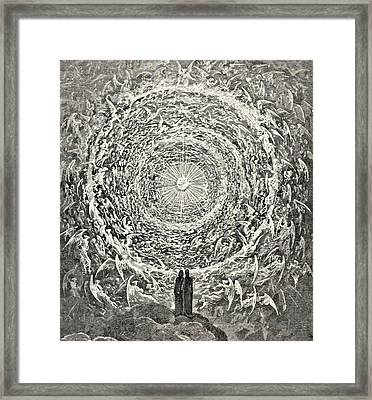 Circle Of Angels Dante's Paradise Illustration Framed Print by