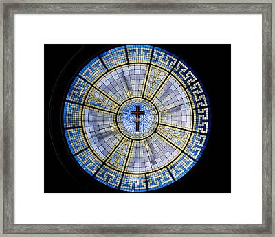 Circle Of Christ Framed Print by Dee  Savage